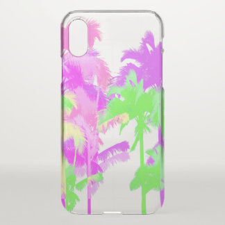 Tropical Heat Wave Neon Hawaiian Palm Trees iPhone X Case