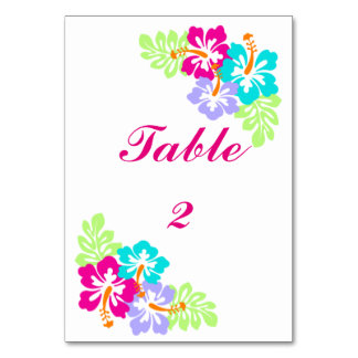 Tropical Hibiscus - 3x5 Table Card