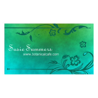 Tropical Hibiscus Cafe Restaurant Business Card
