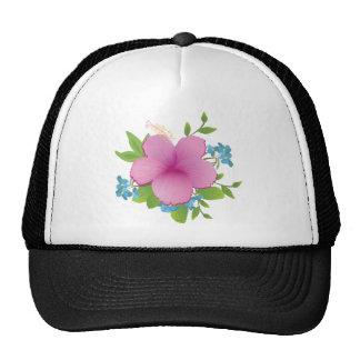 Tropical hibiscus cap