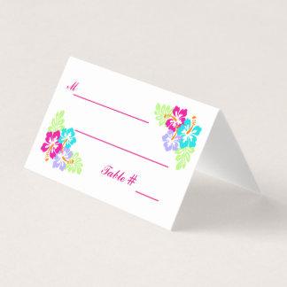 Tropical Hibiscus - Escort Cards
