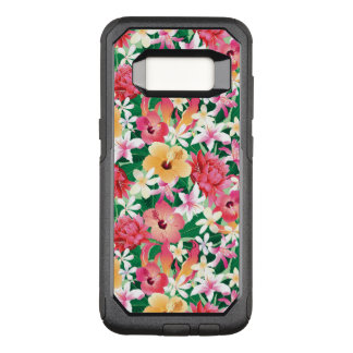 Tropical Hibiscus Floral Pattern OtterBox Commuter Samsung Galaxy S8 Case