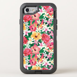 Tropical Hibiscus Floral Pattern OtterBox Defender iPhone 8/7 Case