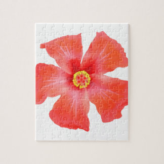 Tropical Hibiscus Flower Vector Jigsaw Puzzle