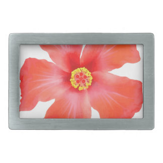 Tropical Hibiscus Flower Vector Rectangular Belt Buckle