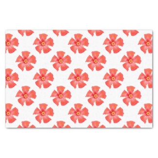 Tropical Hibiscus Flower Vector Tissue Paper
