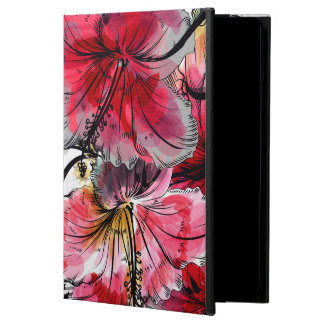 Tropical hibiscus flowers cover for iPad air