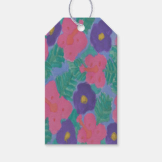 Tropical Hibiscus Flowers Gift Tags