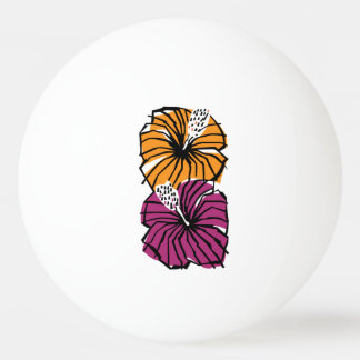 Tropical Hibiscus Flowers Ping Pong Ball