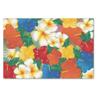 Tropical Hibiscus Flowers Tissue Paper