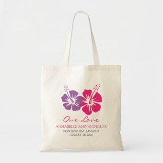 Tropical Hibiscus Flowers Wedding Guest Bag
