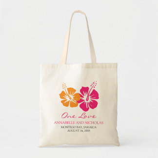 Tropical Hibiscus Flowers Wedding Guest Bags