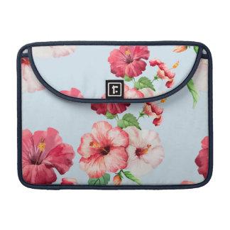 Tropical Hibiscus Hawaiian Floral Customizable Sleeves For MacBooks