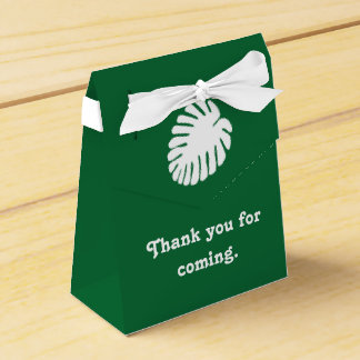 Tropical Hibiscus in Green Favor Box