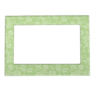 Tropical hibiscus magnetic frame