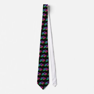 tropical hibiscus summer beach tie