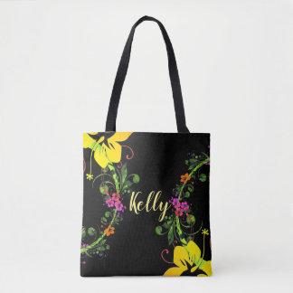 Tropical hibiscus tote. tote bag