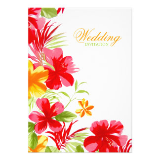 Tropical Hibiscus Wedding invitation