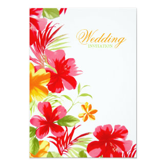 Tropical Hibiscus Wedding invitation