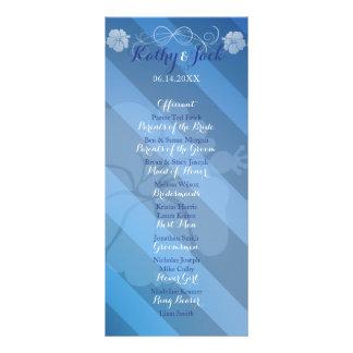 Tropical hibiscus wedding program rack card