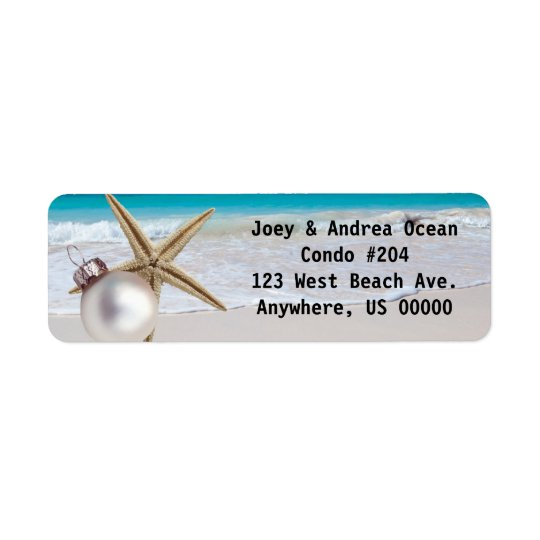 Tropical Holiday Custom Address Labels