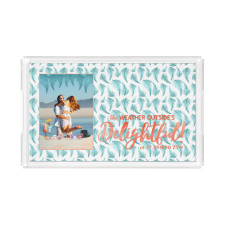 Tropical Holidays | Bright Colors Teal | Photo Acrylic Tray