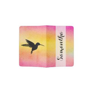 Tropical Hummingbird Colibri Passport Holder