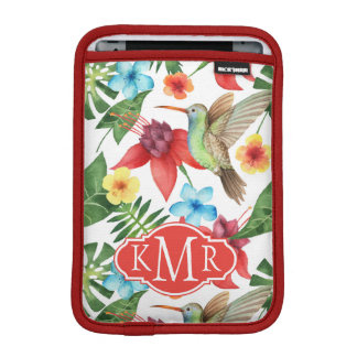 Tropical Hummingbird | Monogram iPad Mini Sleeve