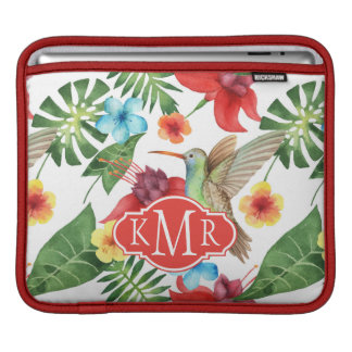 Tropical Hummingbird | Monogram iPad Sleeves