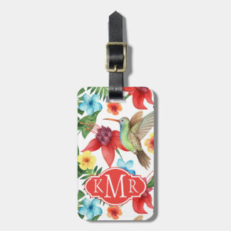 Tropical Hummingbird | Monogram Luggage Tag