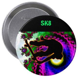Tropical Hurricane Eye with Skateboarder Pin