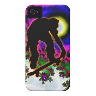 Tropical Hurricane Eye with Skateboarder iPhone 4 Case