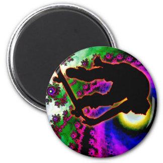 Tropical Hurricane Eye with Skateboarder Magnets