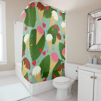 Tropical Ice Cream Shower Curtain