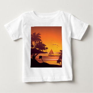 Tropical Island at Sunset 2 Baby T-Shirt