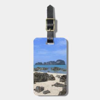 Tropical island bag tag