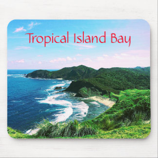 Tropical Island Bay Mouse Pad