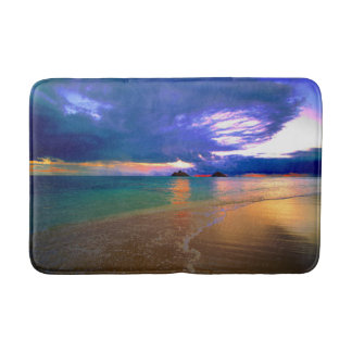 Tropical Island Beach Bath Mat