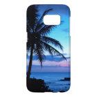 Tropical Island Beach Ocean Pink Blue Sunset Photo