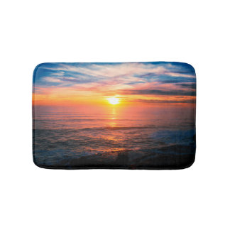 Tropical Island Beach Sunset Bath Mat