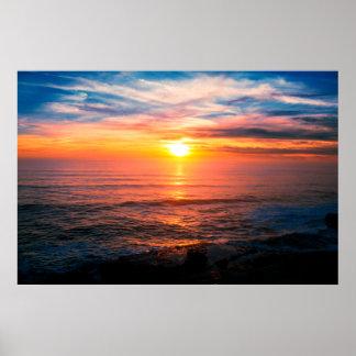 Tropical Island Beach Sunset Poster