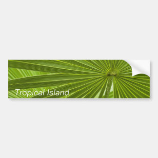 Tropical Island Bumper Sticker