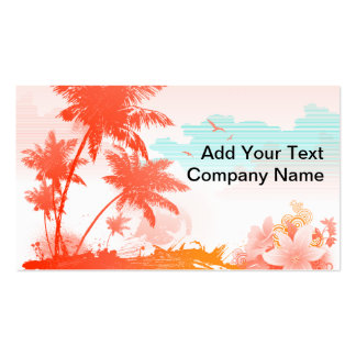Tropical Island Pack Of Standard Business Cards