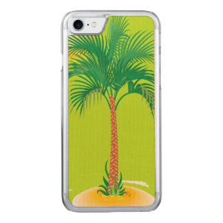 Tropical Island Carved iPhone 7 Case