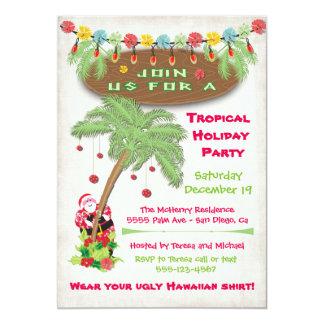 Island party invitations announcements zazzle tropical island christmas holiday party invitation stopboris Choice Image