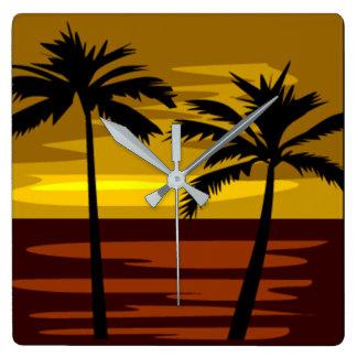 Tropical Island Clock
