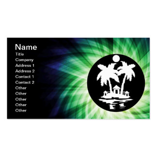Tropical Island Cool Gift Business Card Template