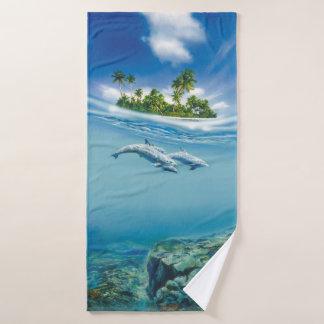 Tropical Island Fantasy Bath Towel