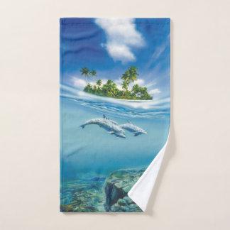 Tropical Island Fantasy Hand Towel