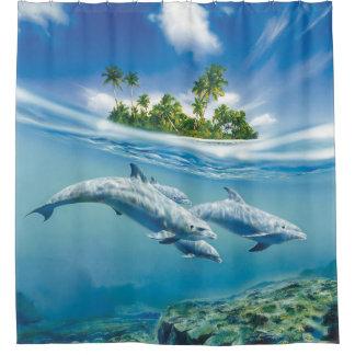 Tropical Island Fantasy Shower Curtain
